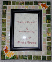 Amber Leaves on Clover Mosaic Photo Frame MOF1296