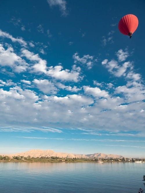 Sunrise balloon ride Nile Egypt