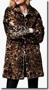 Karen Millen Leopard Print Faux Fur Coat