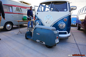 VW Camper with Motorbike