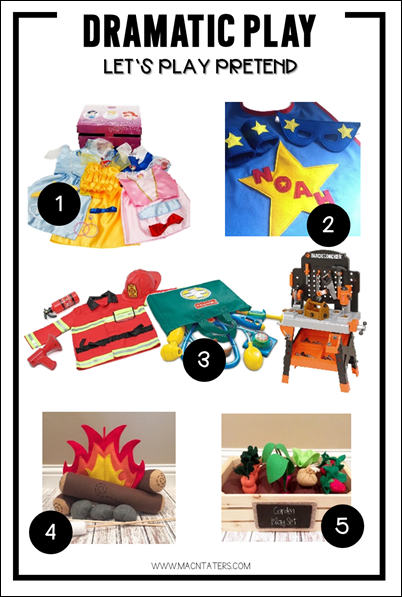 Dramatic Play Gift Guide-dress up, pretend play and more