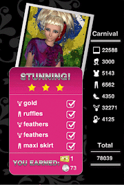 Style Me Girl  Level 28 - Carnival - Lara - Stunning! Three Stars