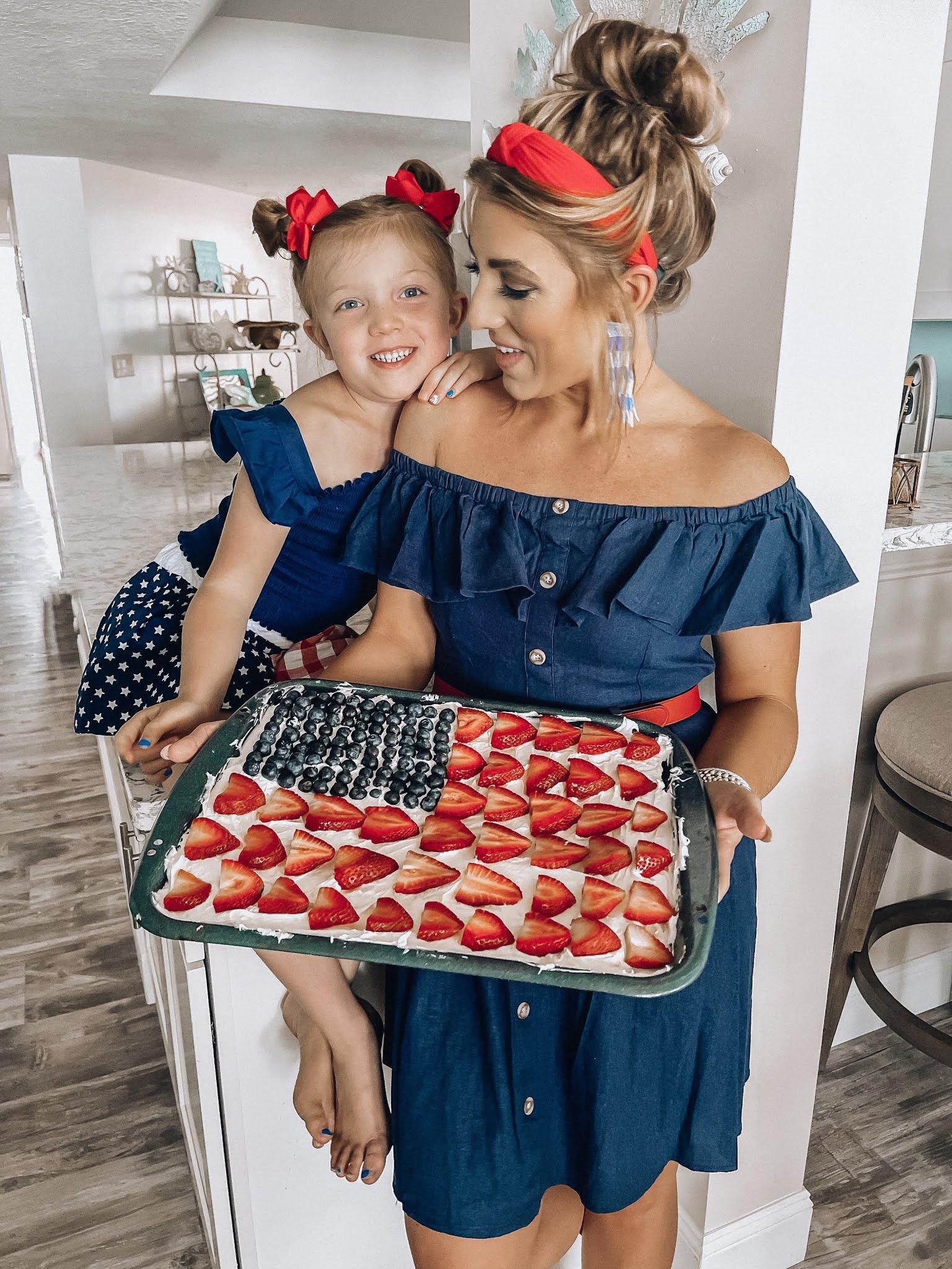 Patriotic Fruit Pizza: The Perfect Summertime Dessert - Something Delightful Blog #summerdessert #july4dessert #FruitPizza #easydessert