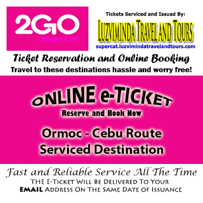 2Go SuperCat Ormoc-Cebu Ticket Reservation and Online Booking