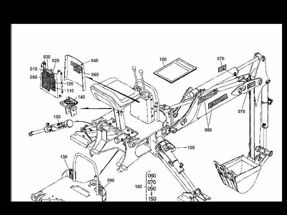 Kubota B7100 Hydraulic System Schematic