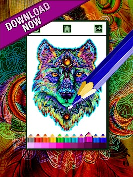 Coloring Book For Adults Free 【ColorWolf】 🐺| 🇺🇸 APK screenshot thumbnail 2