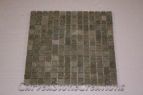 3/4x3/4, Flooring, Flooring & Mosaics, Green, Interior, Mosaic, Natural, Quartzite, Stella Verde, Stone, Tile