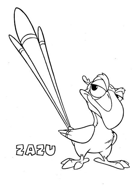 Lion King Zazu Source Disney Lion King Coloring Book