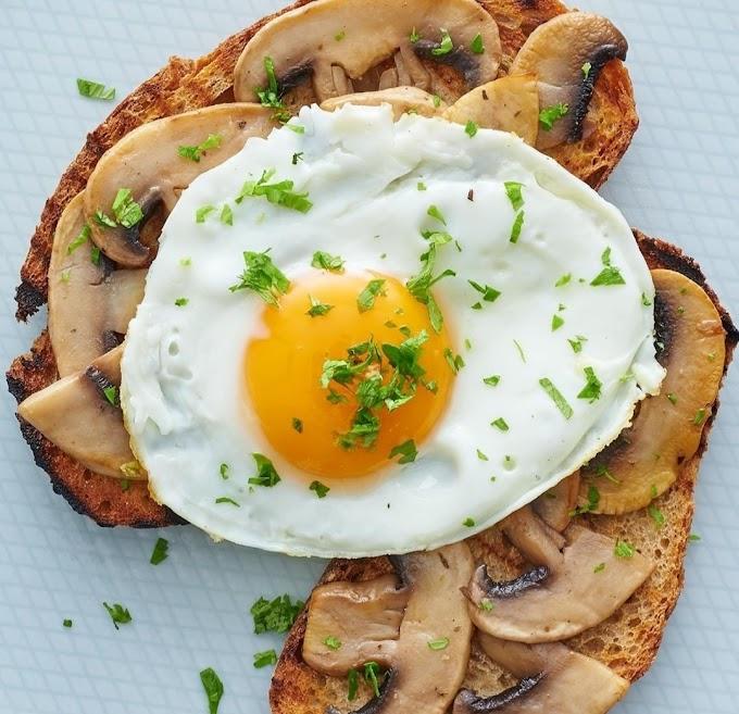 Mushroom Toast Wth Fried Eggs Recipe | Breakfast Care