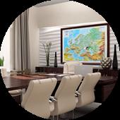 Карты страны, регионов, филиальной сети и т.п.