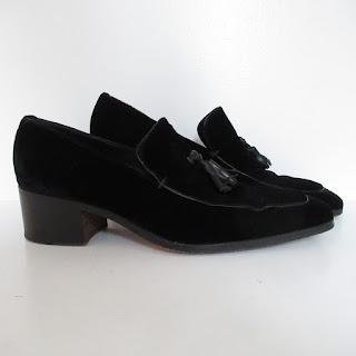 Yves Saint Laurent Cuban Heel Velvet Shoes