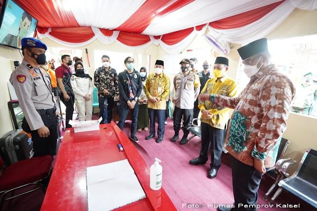 Safrizal Inspeksi ke Posko Operasi Ketupat Siring Laut Kotabaru
