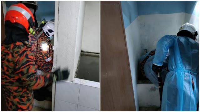 Bayi baru lahir mati jatuh mangkuk tandas