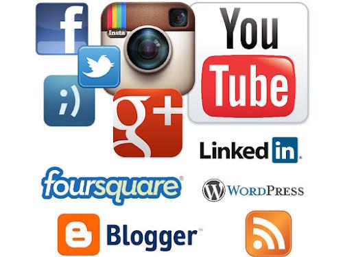 Iconos de redes sociales y blogs