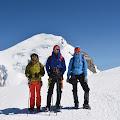 Joe, Domagoj i Jelena na putu prema skloništu Vallot 4362m