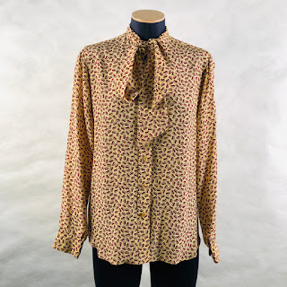 *SALE*Calvin Klein Collection Paisley Pussy-bow Blouse