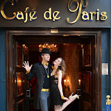 WWW.ENTSIMAGES.COM -    Chris Cross (Contortionist, Escapologist and Magician)  and  Claire Gatens  pre performing at      Beat The Brief Variety Show Cafe de Paris London September 22nd 2014                                                 Photo Mobis Photos/OIC 0203 174 1069 and