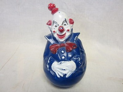 vintage weeble wooble clown