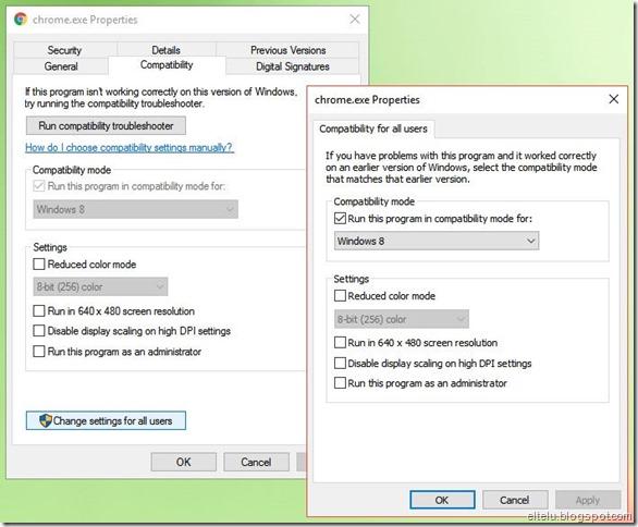 Setelan Kompatibilitas Program Aplikasi Windows 10