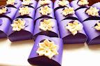 Purple Flower Favour Boxes