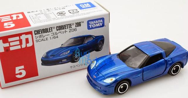 Ô tô mô hình Chevrolet Corvette Z06 màu xanh có kích thước nhỏ xinh và đẹp mắt