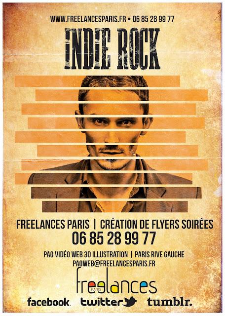 création flyers soirées thème Indie Rock