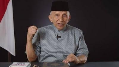 FPI Dibubarkan, Amien Rais Ingatkan Jokowi soal Kebiadaban Firaun.