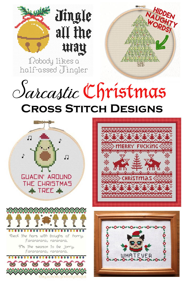 Sarcastic Christmas xstitch designs