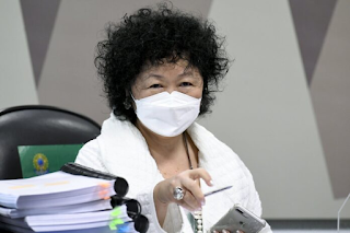 Nise Yamaguchi pede R$ 320 mil em danos morais aos senadores  Omar Aziz (PSD-AM) e Otto Alencar (PSD-BA)