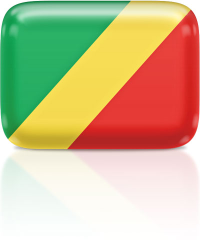 Congolese flag clipart rectangular