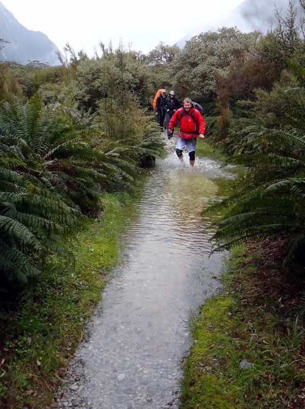 Der Weg ist geflutet