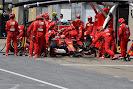 Kimi Raikkonen pit stop for Ferrari