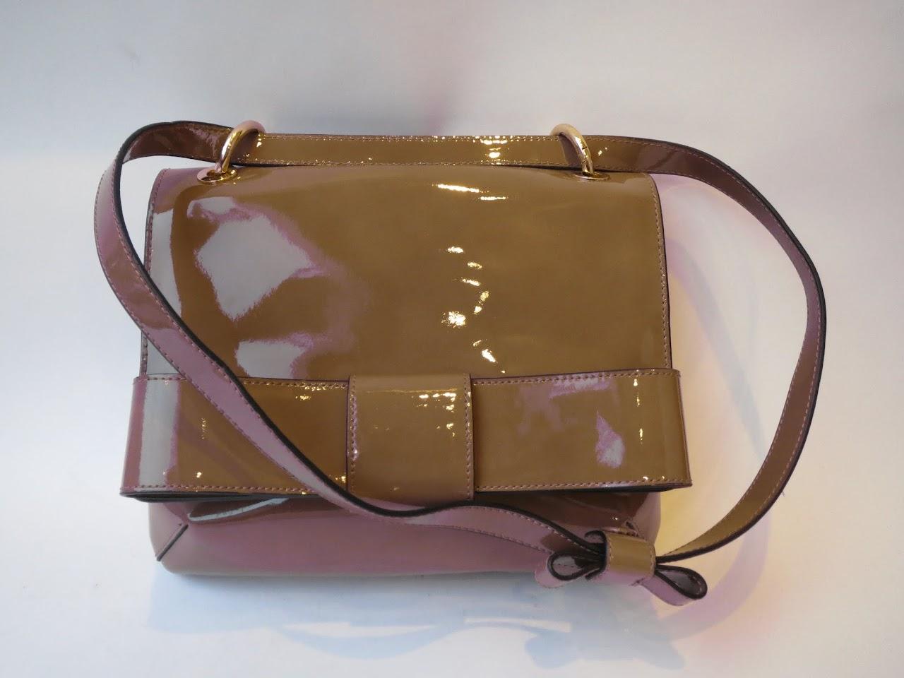 Orla Kiely Patent Leather Shoulder Bag
