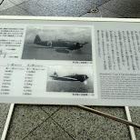 mitsubishi Type-0 carrier-based fighter in Chiyoda, Tokyo, Japan