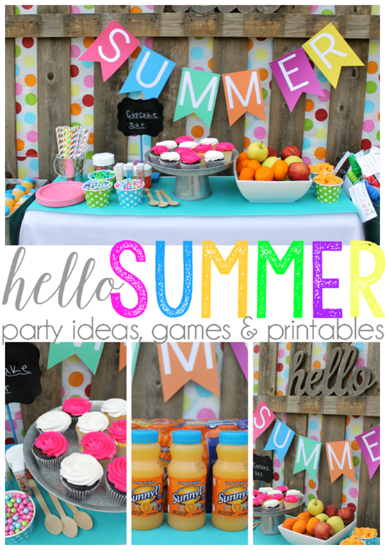 Hello Summer Party Ideas, Games & Printables with SunnyD #WhereFunBegins #collectivebias #ad_thumb