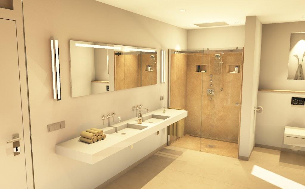 Badezimmer erstellt mit unserer neuen Visualisierungssoftware!