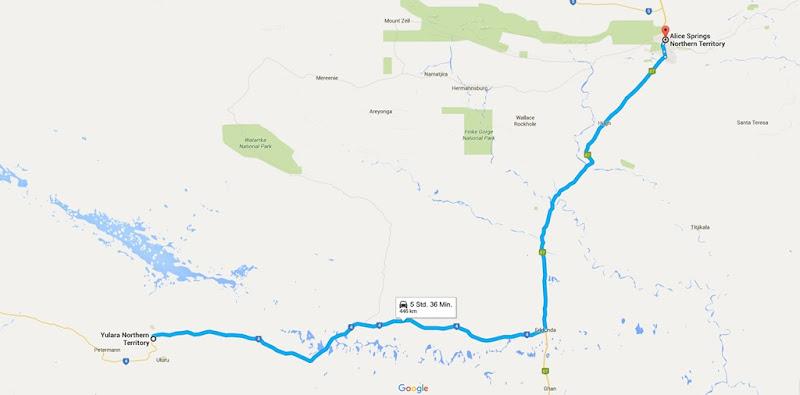 z28 von Yulara nach Alice Springs