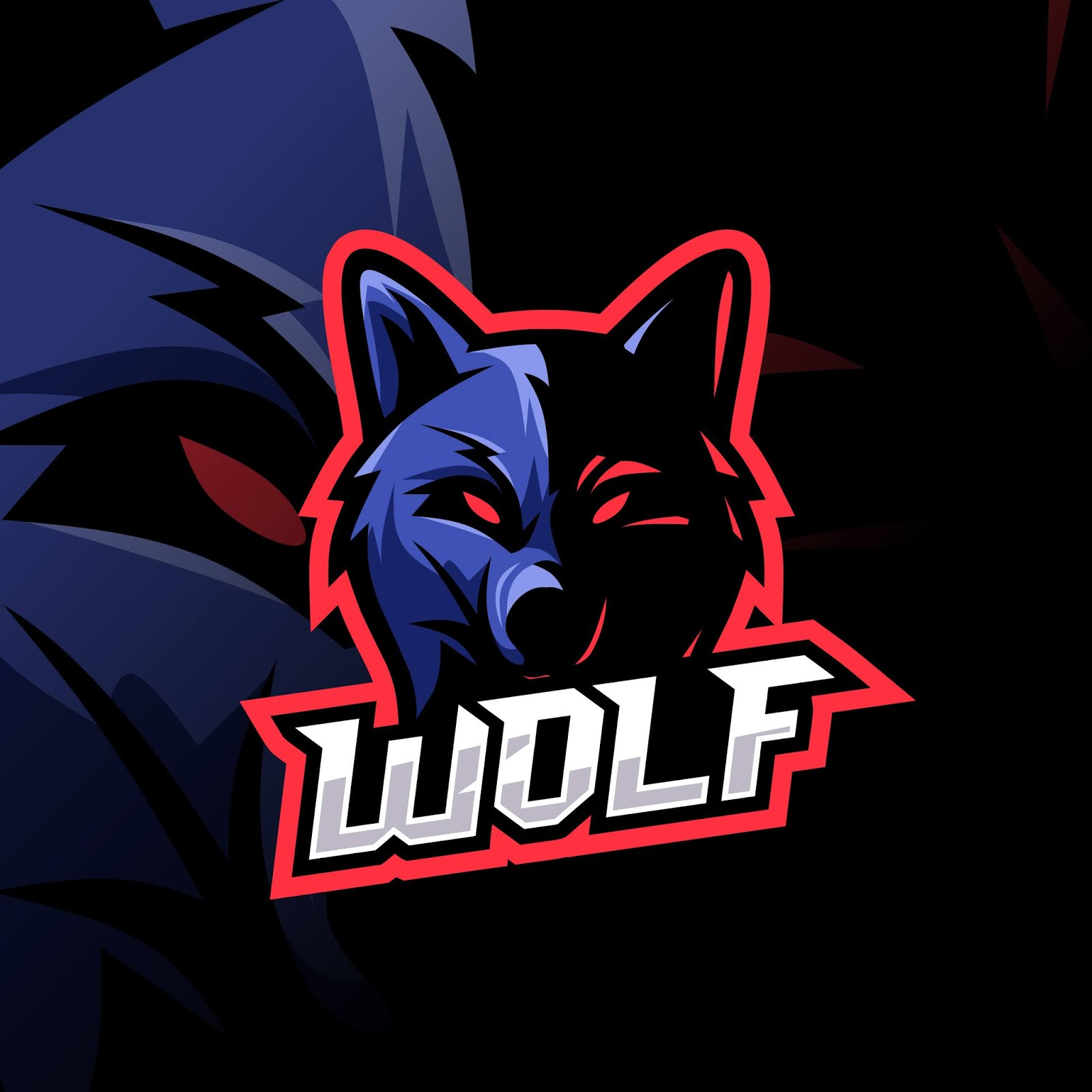Wolf Esport Logo Awesome Free Download Vector CDR, AI, EPS and PNG Formats