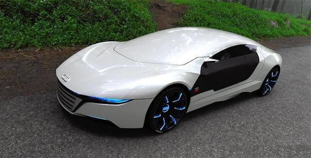 Audi concept car that changes colour