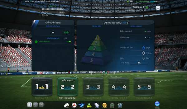 FIFA Online 3: Chế độ đấu xếp hạng và đấu trọng tài 2