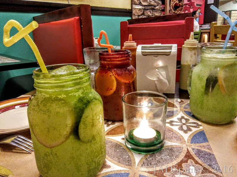 Our Drinks – House Blend Iced Tea for Daniz, Cucumber Lemonade for us