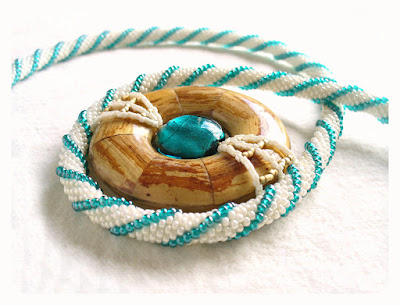 Beaded Donut Necklace by Beadwork and Coe