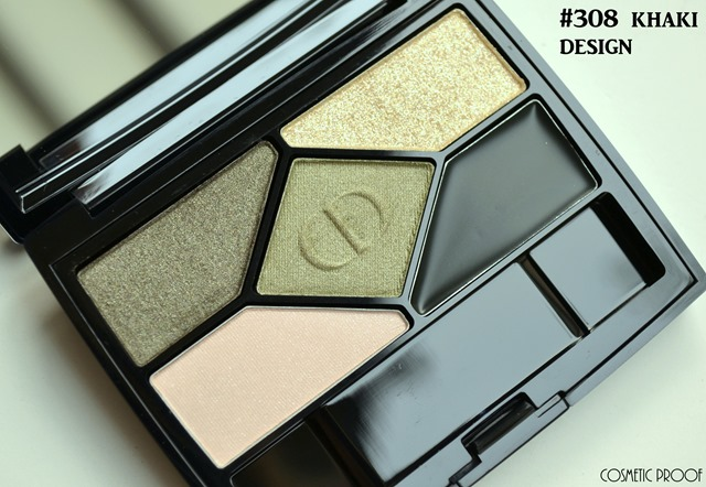 Dior Diorshow 5 Couleurs Khaki Design FOTD Swatches Review