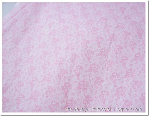 Pretty pink floral print fabric.