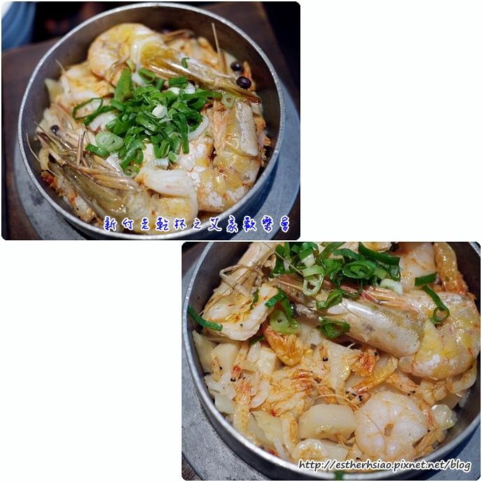 19 天然黃金蝦釜飯 330元