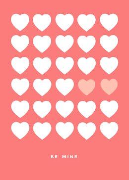 Valentine Hearts - Valentine's Day Card item