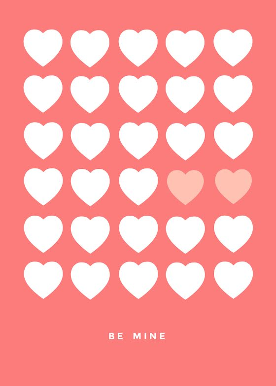 Valentine Hearts - Valentine's Day Card Template
