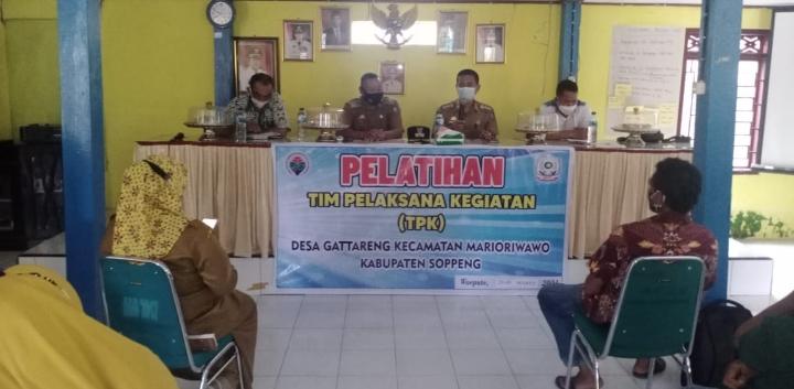Tingkatkan Pengetahuan dan Keterampilan Pelaksana, Pemerintah Desa Gattareng Gelar Pelatihan TPK