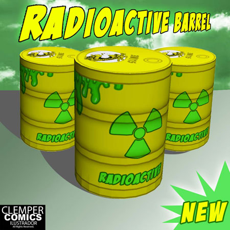 Radioactive Barrel Papercraft