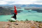 Vasilisa Celebrating A Successful Hike Up Valle Bader (Torres Del Paine, Chile)